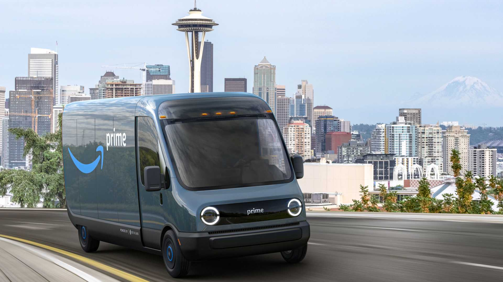 rivian-amazon-electric-delivery-truck-on-road